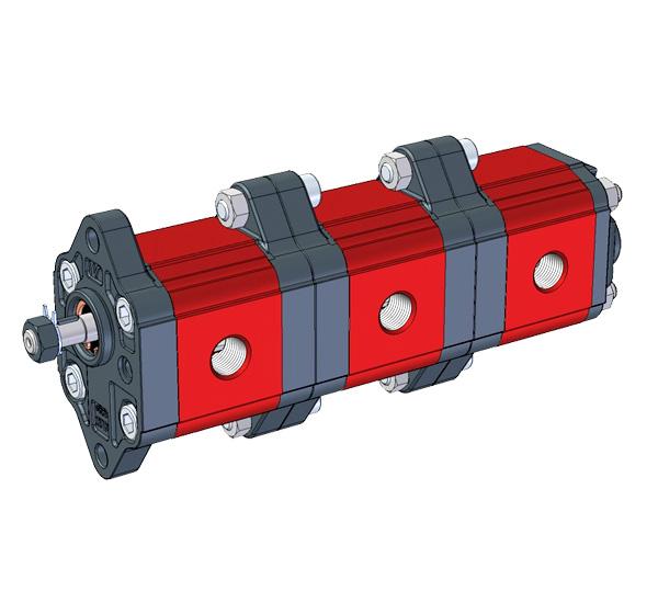 Bomba Hidráulica de engranajes exteriores | 9M001 - BOMBA MÚLTIPLE - BRIDA ø22