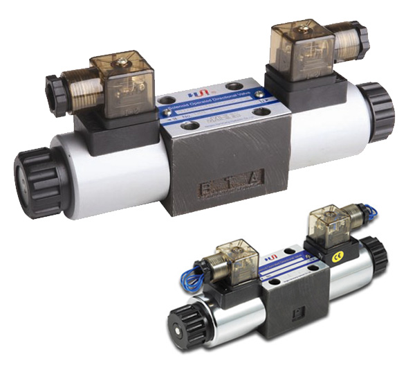 Modelos: 4WE6 | Descripción: Electroválvulas Hidráulicas Hanshang, tamaño TN 6, Bobina 24 V.DC, 24,110.220 V.AC, presión 315 bar.