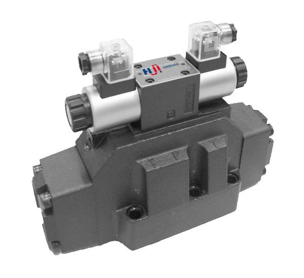 Modelos: 4WE16 | Descripción: Electroválvulas Hidráulicas Hanshang, tamaño TN 16, Bobina 24 V.DC, 24,110.220 V.AC, presión 315 bar.