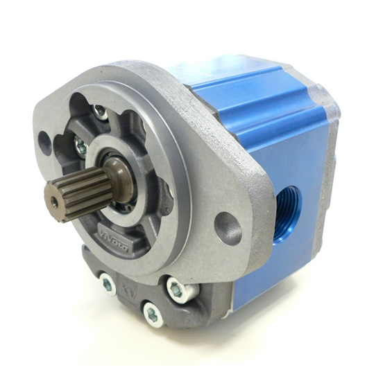 Motor de Engranajes XU-3 | XU331 - MOTOR 'SAE B' TIPO - ø101.6 BRIDA - eje estriado - PUERTOS BSPP