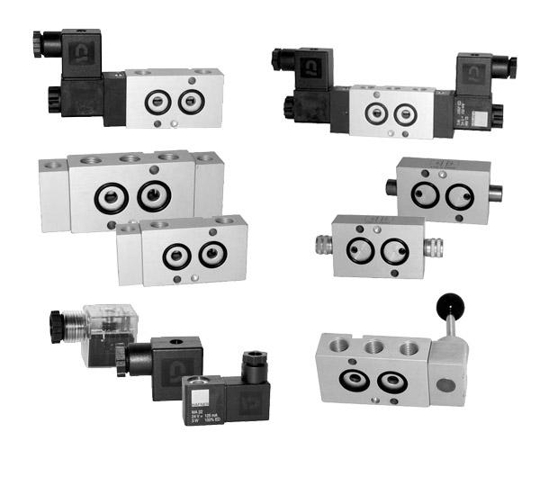 CODIGO: MNH / MNOH | DESCRIPCION: Válvulas Namur; 4/2, 5/2 conexión NAMUR, Caudal 1100 l/min, para actuadores neumáticos de simple y doble efecto, presión max: 10 bar.